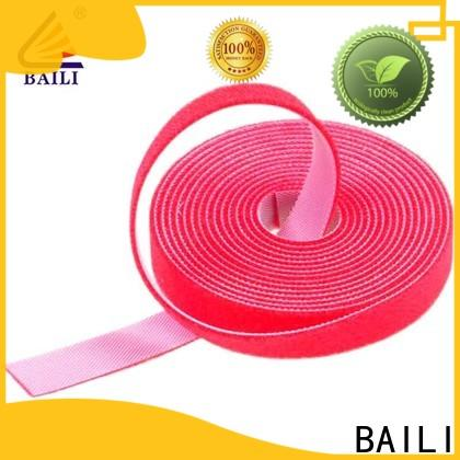 BAILI hooks double sided hook and loop tape factory direct supply for cable
