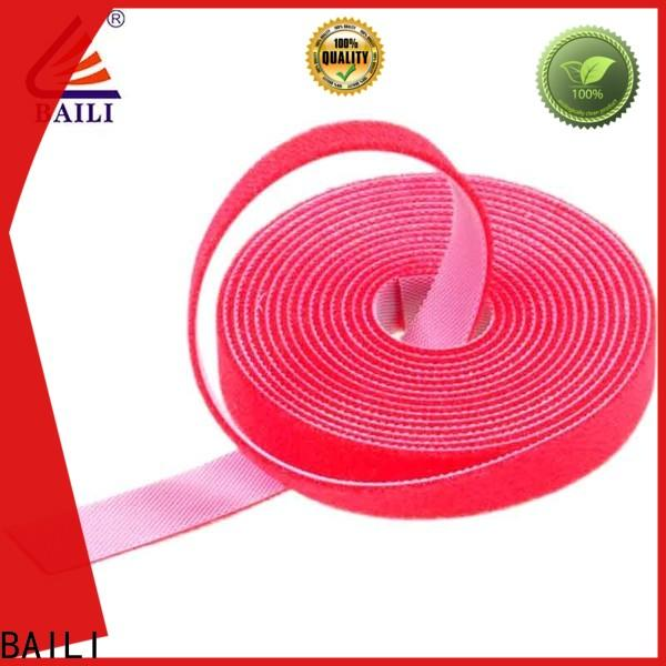 BAILI durable double sided hook and loop tape supplier for cable