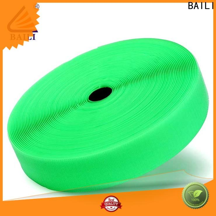 BAILI A grade quality hook and loop tape for sewing factory direct supply for shoes