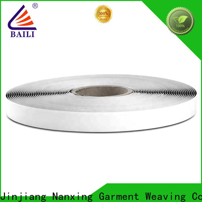 BAILI nylon self adhesive hook and loop tape customized for metal