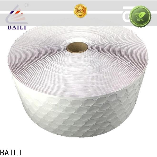 BAILI stable self adhesive hook and loop tape supplier for wood