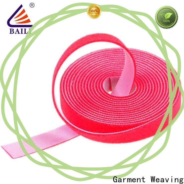 BAILI hook sticky back hook and loop tape manufacturer for cable