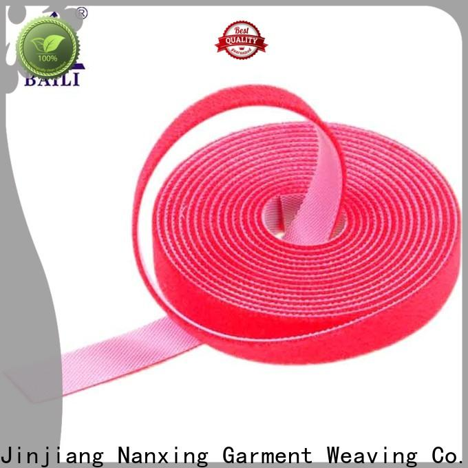 BAILI multi-purpose double sided hook and loop tape design for cable