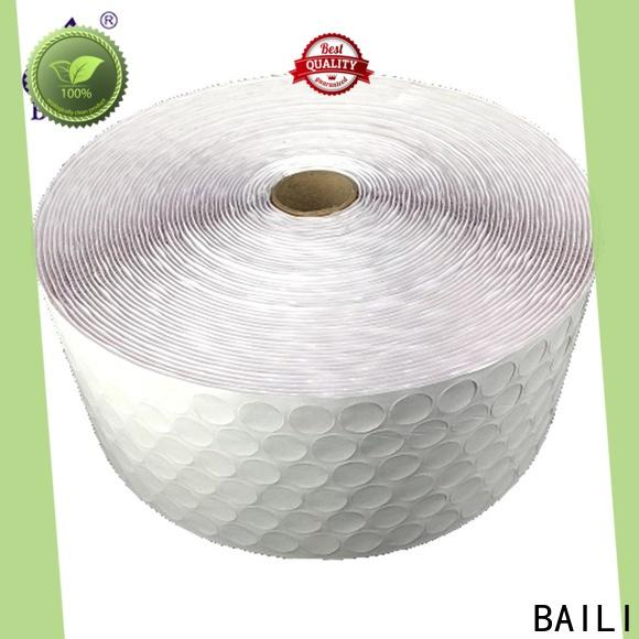 BAILI with hot melt glue hook and loop dots supplier for wall