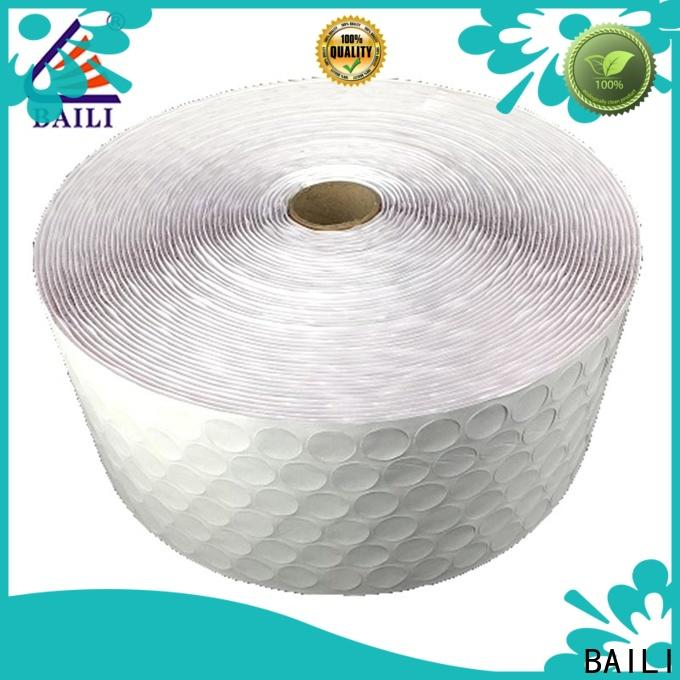 BAILI with hot melt glue self adhesive hook and loop tape supplier for wall