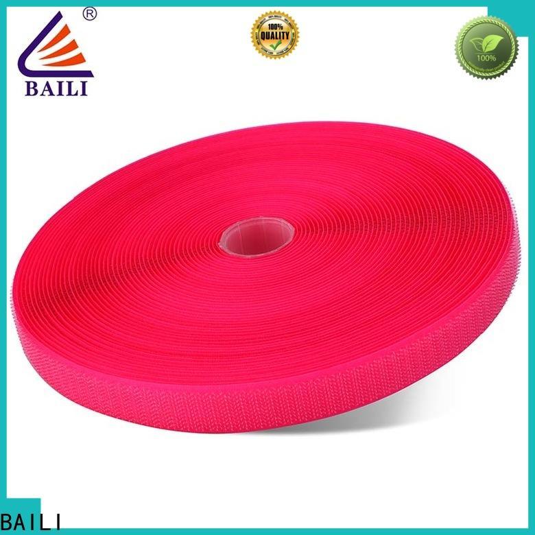 BAILI strong peeling strength hook & loop tape wholesale for costumes