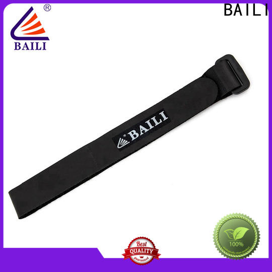 BAILI strong peeling strength hook and loop fastener manufacturer for cable ties