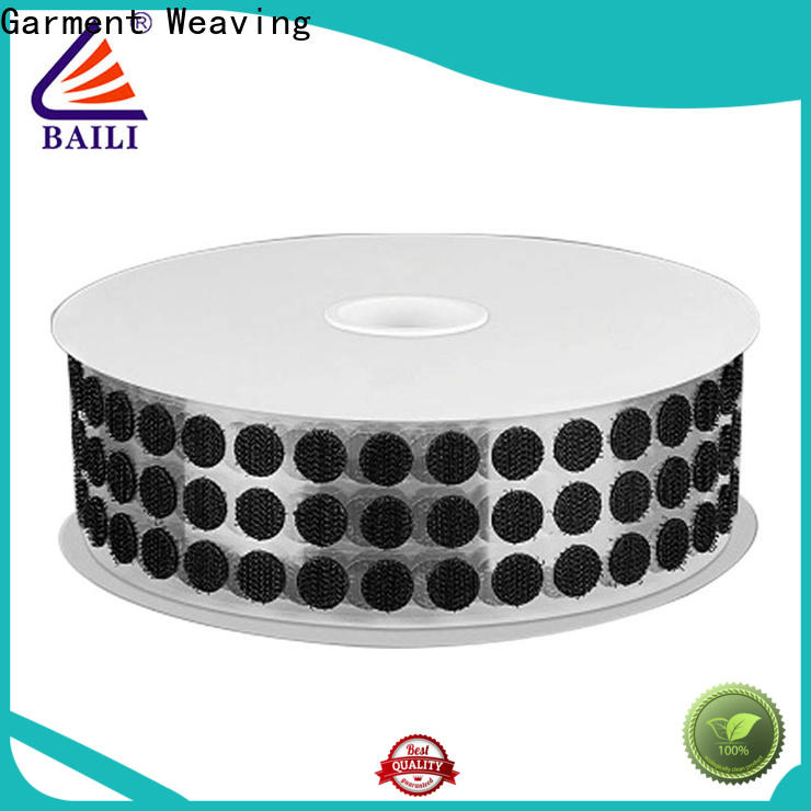 BAILI with dots self adhesive hook and loop fasteners customized for metal