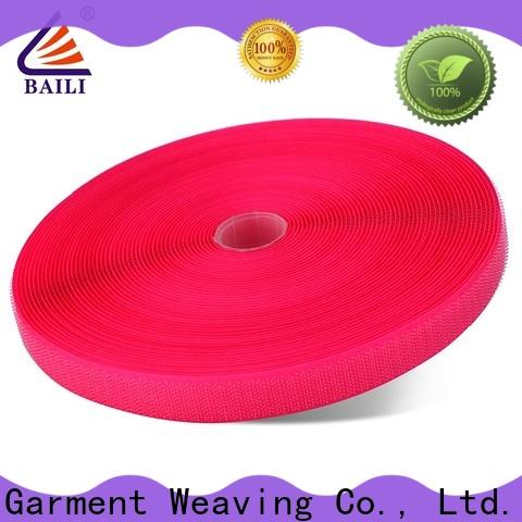 BAILI strong peeling strength hook and loop fastener tape customized for leather-ware