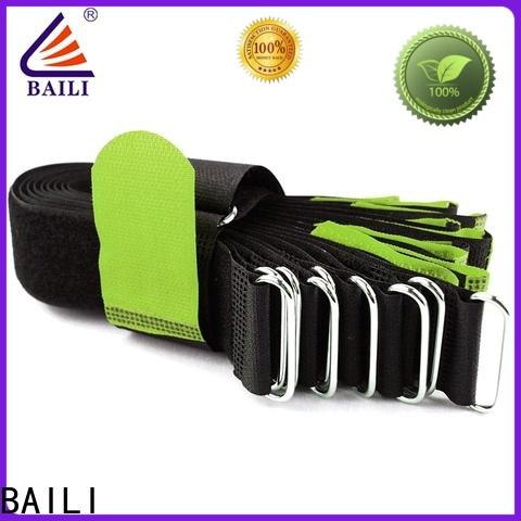 BAILI nylon hook and loop cinch straps supplier for luggage