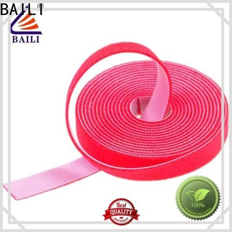 BAILI real double sided hook and loop tape design for cable