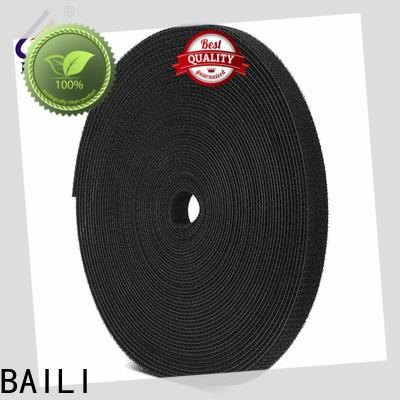 BAILI multi-purpose sticky back hook and loop tape manufacturer for cable