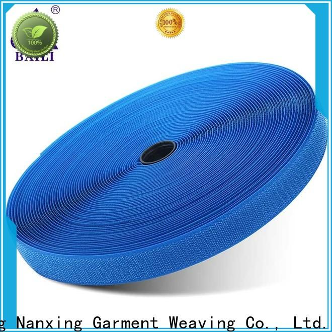 BAILI eco-friendly hook and loop tape customized for costumes