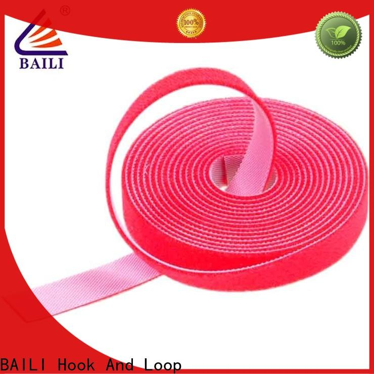 BAILI Best double sided hook and loop tape factory for cable