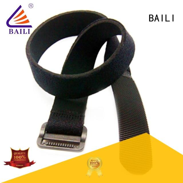 BAILI durable hook and loop strap manufacturer for luggage