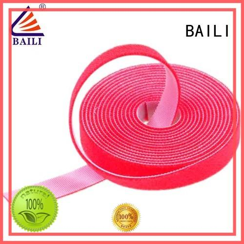 BAILI 20mm50mm double sided hook and loop tape supplier for cable