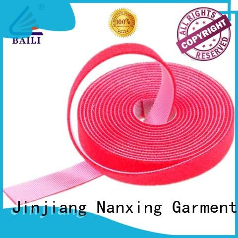 BAILI resuable double sided hook and loop tape factory direct supply for cable