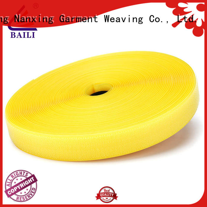 BAILI strong peeling strength hook tape manufacturer for shoes