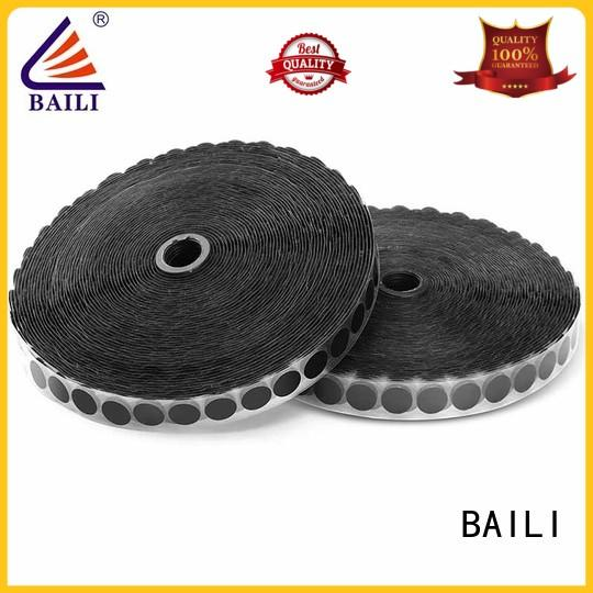 BAILI top quality adhesive hook and loop with hot melt glue for wall