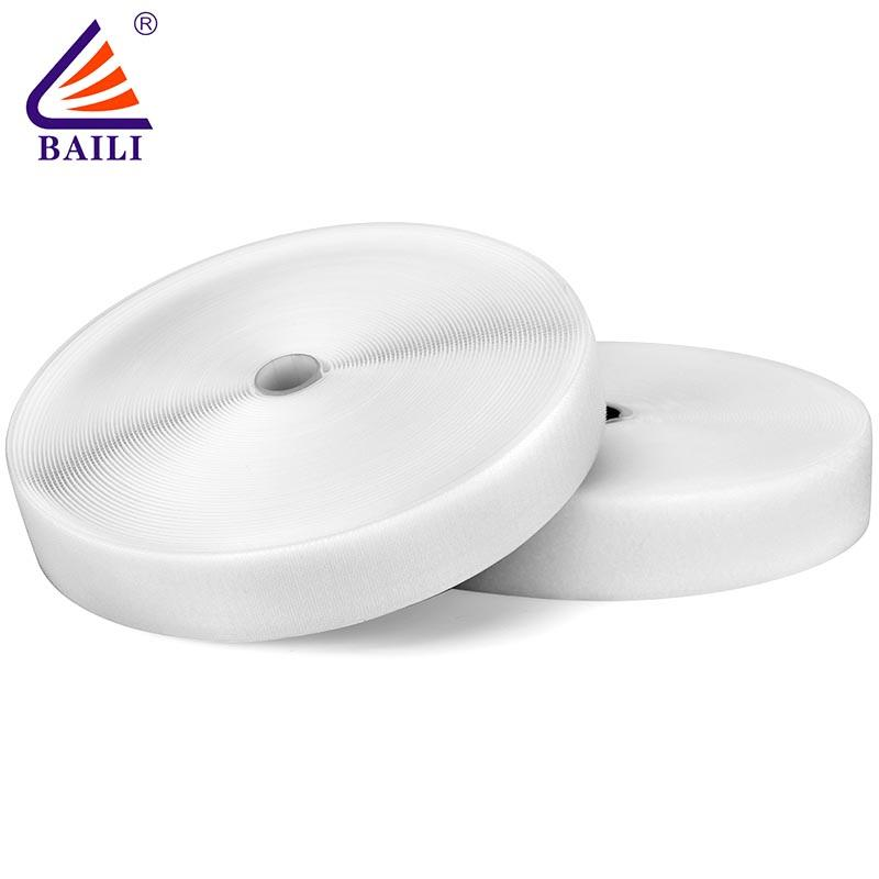 industrial hook and loop tape roll Garment Accessories A grade quality White material