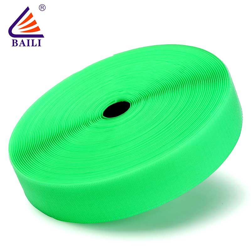 hook & loop tape Fasteners tape roll Garment Accessories A grade quality Green material