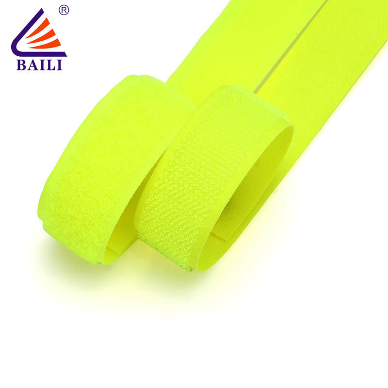 heavy duty hook and loop tape roll Garment Accessories A grade quality Light green material