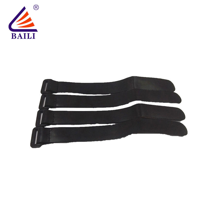 elastic hook and loop strap Wire Cable tie hook and loop fastener Strap resuable
