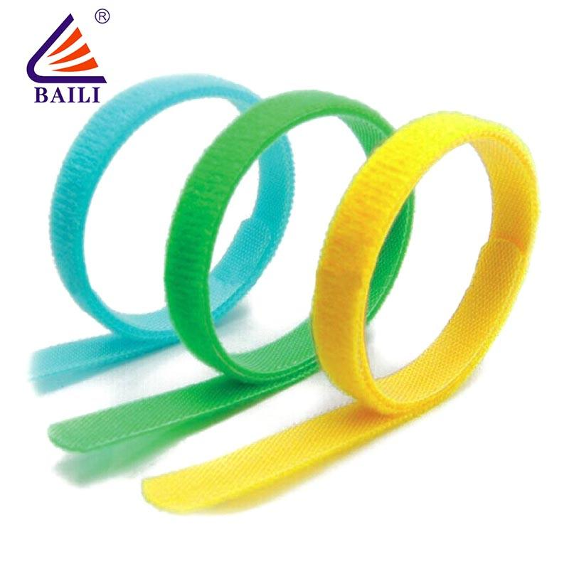 Adjustable nylon hook and loop cable ties Factory supply