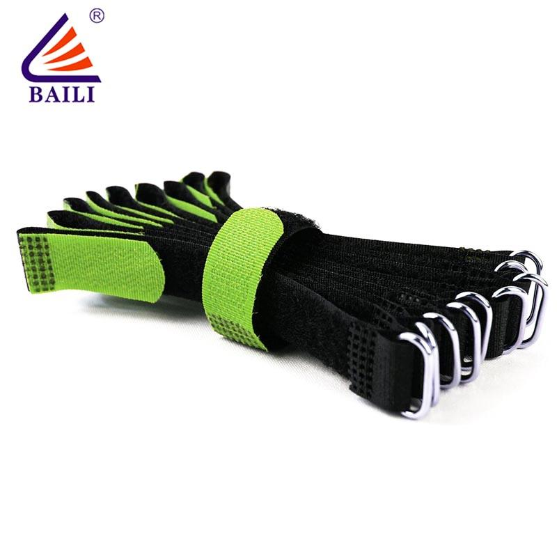 wholesale hook and loop straps  wrap tie Durable green color