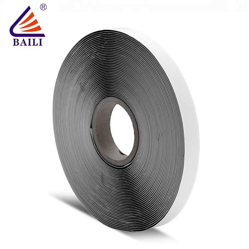 Strong adhesive hook and loop fastener tape roll