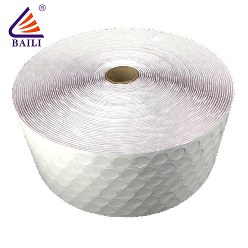 BAILI with hot melt glue self adhesive hook and loop fasteners supplier for metal