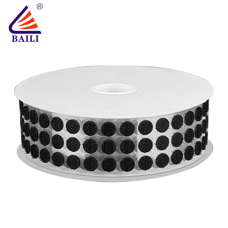 BAILI with dots self adhesive hook and loop fasteners customized for metal-2