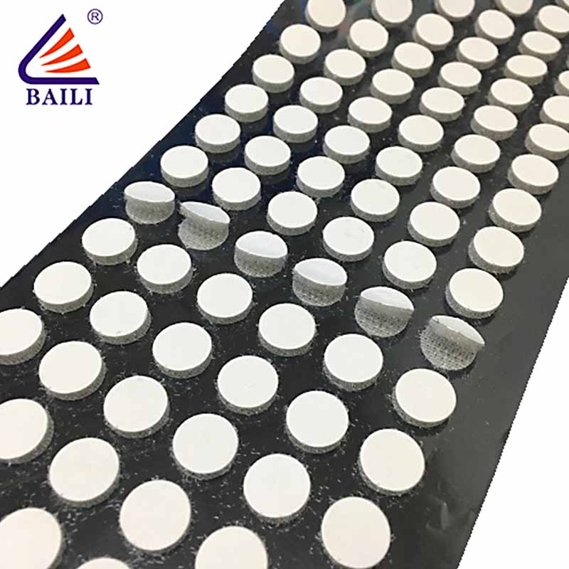 BAILI with dots self adhesive hook and loop fasteners customized for metal-1
