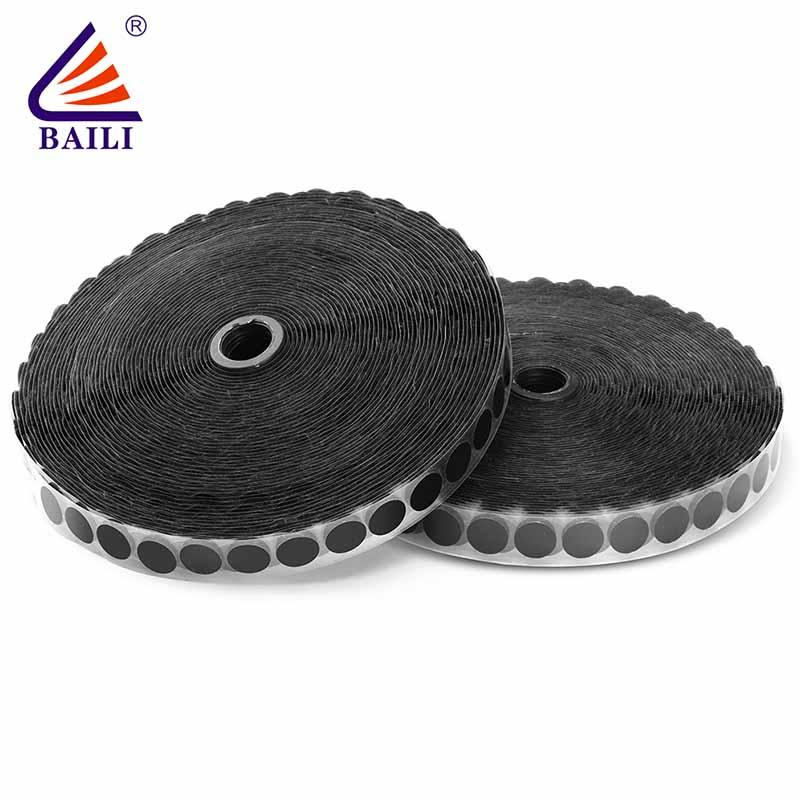Strong adhesive hook tape hook and loop fastener tape roll coins