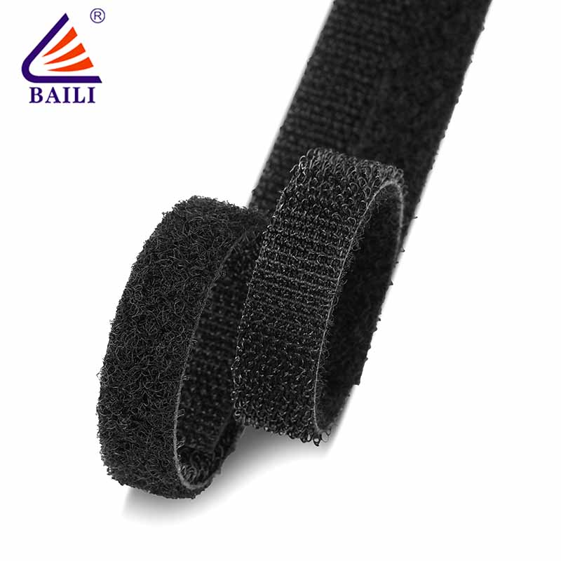 BAILI 20mm50mm double sided hook and loop tape design for strapping-2