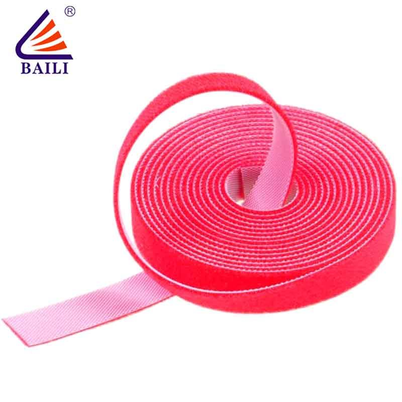 Resuable double sided sticky back hook and loop tape 20mm-50mm