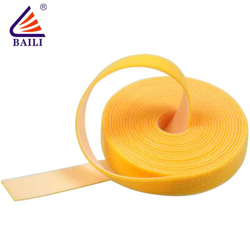 BAILI multi-purpose double sided hook and loop tape design for cable-2