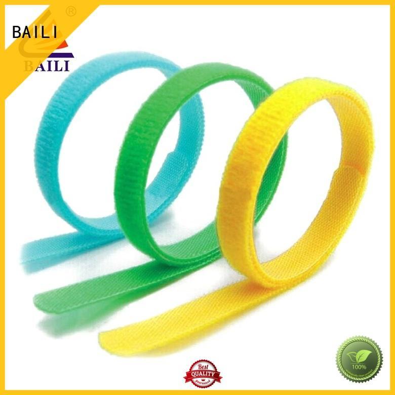 BAILI quality adjustable hook and loop fastener strap elastic for bundle