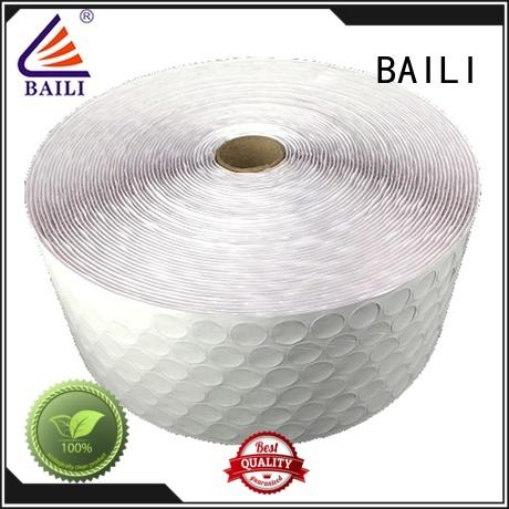 BAILI professional self adhesive hook and loop fasteners customized for wall