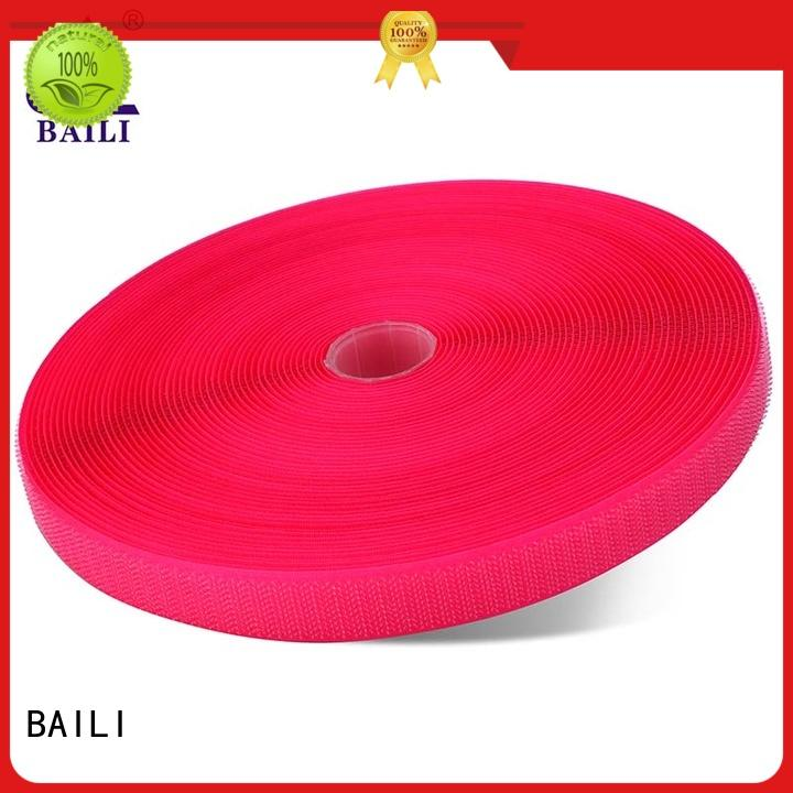 BAILI durable hook and loop tape roll multicolor for leather-ware