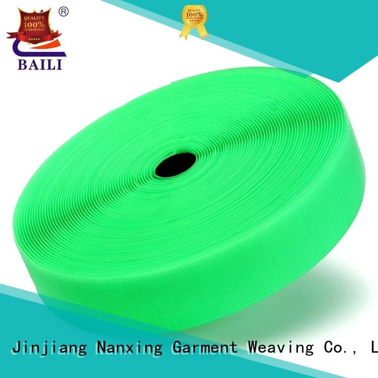 BAILI reliable hook and loop tape customized for costumes