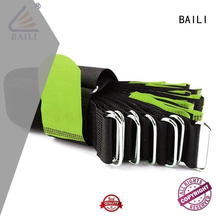 BAILI quality hook and loop straps nylon for cable ties