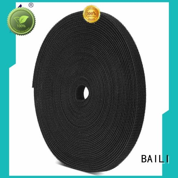 BAILI real double sided hook and loop tape factory direct supply for cable