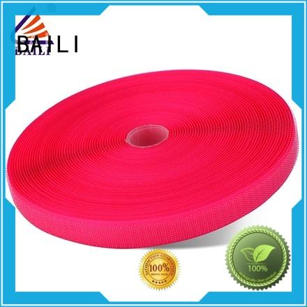 strong peeling strength hook and loop fastener tape customized for costumes BAILI