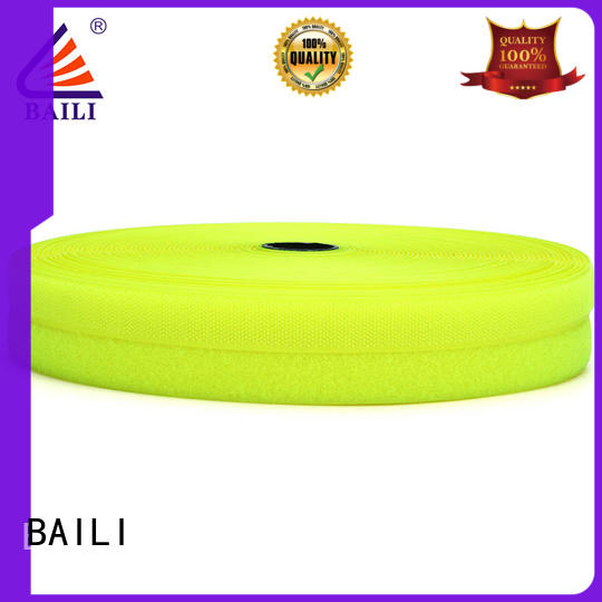 BAILI nylon hook and loop strips manufacturer for shoes