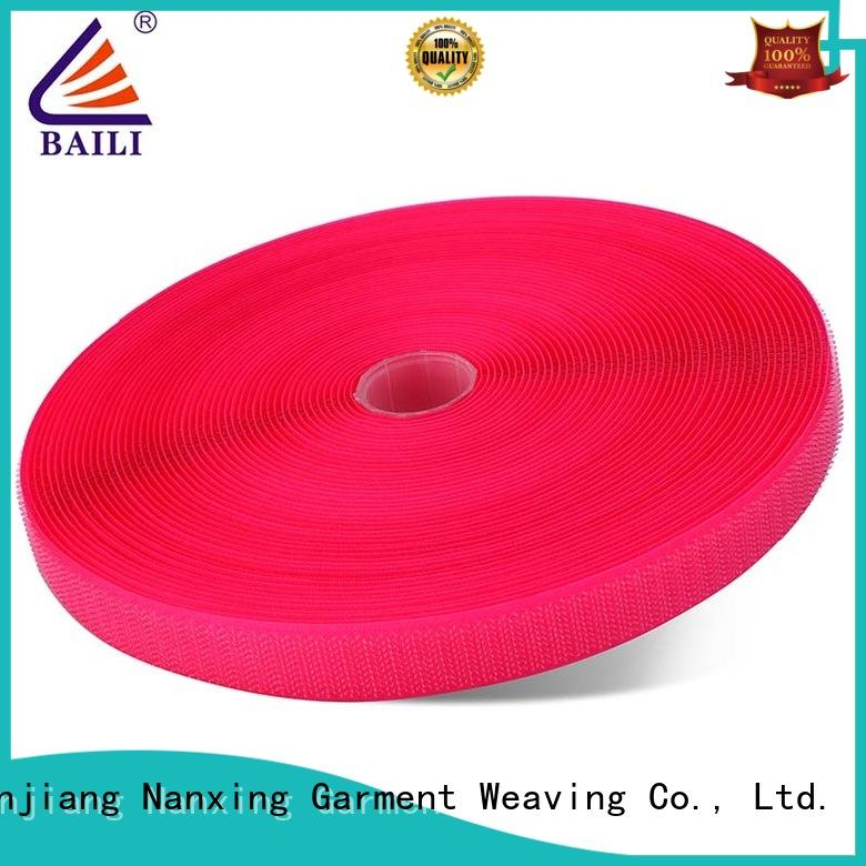 BAILI nylon hook & loop tape factory direct supply for leather-ware