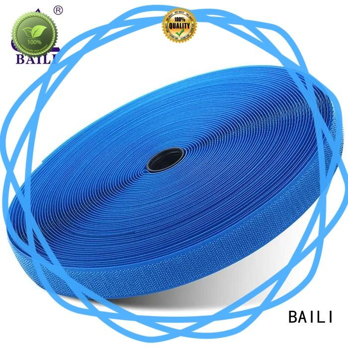 BAILI strong peeling strength hook and loop fastener tape manufacturer for bags