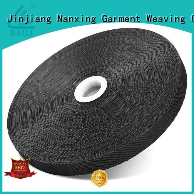 BAILI plastic hook pile tape supplier for bags