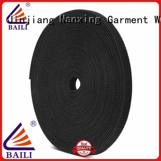 double sticky back hook and loop tape supplier for cable BAILI