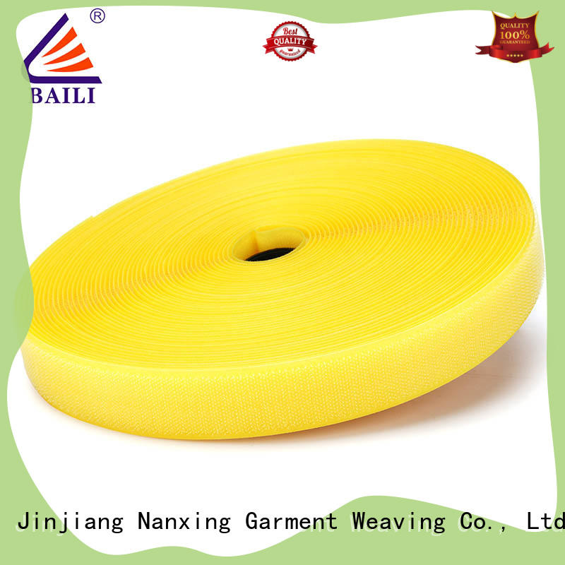 BAILI A grade quality hook and loop tape manufacturer for leather-ware